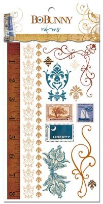 Bo Bunny Press - Weekend Market Collection - Rub Ons at Scrapbook.com $3.49