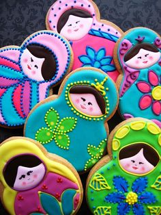 Matryoshka cookies... maybe for a bake sale in the distant future (you know, when we're good at baking)