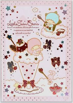 Book ★Little Twin Stars★ Sanrio Characters, Little Twin Stars, Schedule, Twins, Dairy, Office Supplies, Notebook, Japan, Games
