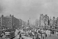 O'Connell Street and Bridge Following the Easter Rising, Dublin, Ireland, 1916 Photographic Print