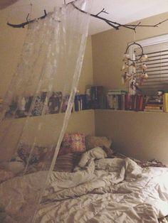 Idées de chambres dans les livres de style Boho rideaux coussin Dreamcatcher