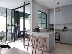 Стильный дизайн на маленьком пространстве (37 кв. м) | Пуфик - блог о дизайне интерьера