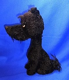 Vintage German Stuffed Animal Schuco Dog