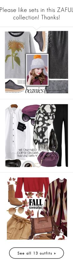 """""""Please like sets in this ZAFUL collection! Thanks!"""" by ansev on Polyvore featuring Pedder Red, vintage, zaful, River Island, Stuart Weitzman, Quay, Diane Von Furstenberg, Michael Kors, fallsweaters and Topshop"""