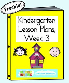 Kindergarten Lesson Plans Week 3