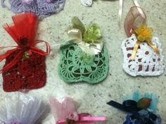 bomboniere porta confetti e/o segnaposti fatti a mano a uncinetto : Altri accessori per creazioni di carmela-39-s-creations