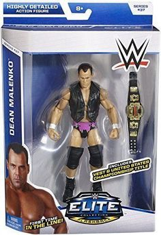 WWE Elite Series 37 Dean Malenko with US Championship Title vest Wave #37 in Toys & Hobbies, Action Figures, Sports | eBay