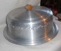 vintage aluminum cake keeper - love it!