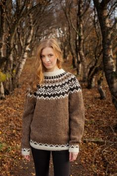 Free Knitting Pattern Iceland Wool Sweater for Adult