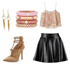 """""""Untitled #2"""" by polyvoream ❤ liked on Polyvore featuring Boohoo, MANGO, Sam Edelman and Adolfo Courrier"""