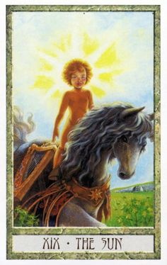 19 - The Sun ~ Tarot des Druides : Philip & Stephanie Carr-Gomm