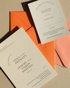 Not orange, but love this invite!! Nicety Studio
