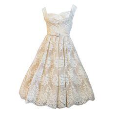 1950s Vintage Lace Dress