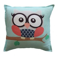 Girl owl scatter cushion by Ruby & Me