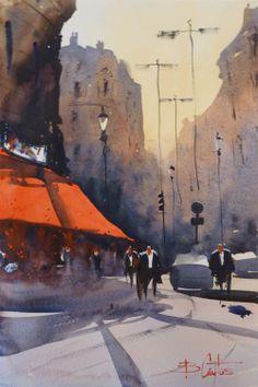Paris. Watercolour by Borja Cantos