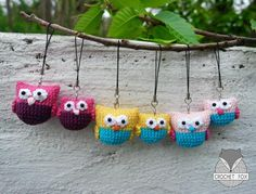 (4) Name: 'Crocheting : Owl Family