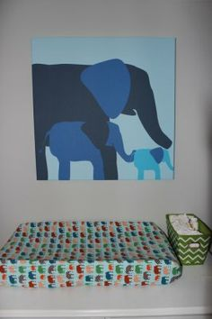 An elephant parade in your nursery | LOVE  these elephant-inspired nurseries from #ProjectNursery #BabyCenterBlog