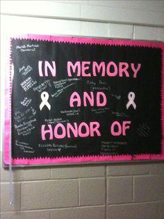 Breast cancer bulletin board