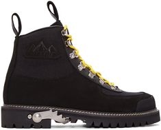 OFF-WHITE Black Cordura Hiking Boots. #off-white #shoes #boots