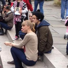 Harry Styles, Lou Teasdale, and Taylor Swift