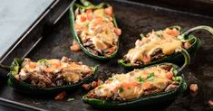 Brisket Stuffed Poblano with Queso Meat Recipes, Mexican Food Recipes, Cooking Recipes, Ethnic Recipes, Meat Meals, Diner Recipes, Game Recipes, Leftover Brisket, Smoked Beef Brisket