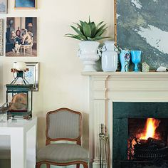 2. Play Up Your Favorite Color, but Keep the Base Neutral - Turn your house into a home with five interior design tips from Charlottesville shopkeeper Christy Ford. - Southern Living
