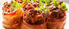 "<p>These mini meatloves take little time to prepare and are sure to be crowd-pleasers!</p> <p><a href=""http://paleoleap.com/bacon-wrapped-mini-meatloaves/"" target=""_blank"">Get the recipe!</a></p>"