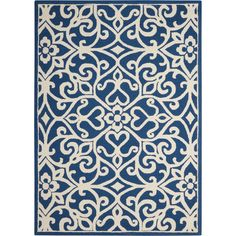 Found it at Wayfair - Hockenberry Handmade Navy/Ivory Area Rug