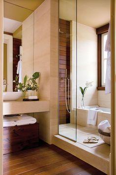 Baños con ducha: prácticos y ecológicos                                                                                                                                                      Más