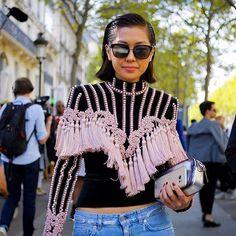 #parisfashionweek @lizzzuy wearing @balmain photo via @nowfashion #style#styling#stylish#street#streetstyle#fashion#fashionable#cool#instamood#instafashion#balmain#denim#moda#shoes#loveit#streetlook#sexy#instyle#tagsforlikes#luks#followme#luxury#blogger#fashionweek#luxurystyle#luxuryfashion#lizuy#ss17#pfw