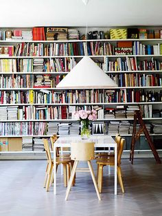 styling: tons of books!