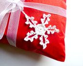 Christmas Gift Tag - Crochet Snowflake - White - Christmas Tree Ornament or Home Decor - Under 10 - Black Friday