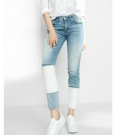 Blue. Put A Fresh, Can't-Miss Spin On Your Denim Dressing With This Stylish Pair. They Feature Bold White Piecing Toward The Ankles For A Unique Casual Look, While Stretch Cotton Delivers The Go-Anywhere Comfort You Need. Get Ready To Wow.. Womens Jeans. 0 Long
