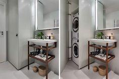 """61 Likes, 2 Comments - Badrumsdrömmar (@badrumsdrommar) on Instagram: """"Många har vi fina badrum som måste också rymma de mindre snygga tvättmaskinerna. Hur du än vrider…"""""""