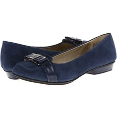 Anne Klein Heida Women's Flat Shoes, Blue ($36) ❤ liked on Polyvore