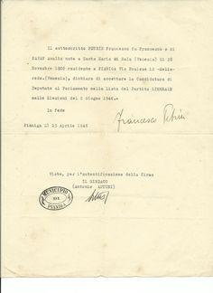Candidatura all'Assemblea Costituente di Petrin Francesco (1906-1980, Wikipedia). https://it.wikipedia.org/wiki/Francesco_Petrin