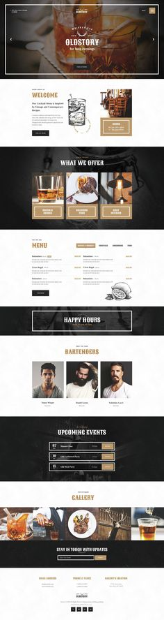 If you're looking for Bar or Pub template, OldStory is what you actually need to make an impressive website. Created especially for #Whisky #Bar and Shop, OldStory has modern and functional design and lots of customizable features. #restaurant #wptheme