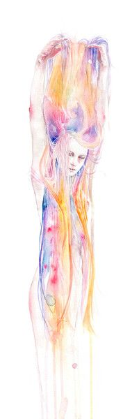 I'll Stay For a While Fine Art Print by Agnes Cecile. Authentic giclee print artwork on paper or canvas. Wall Art purchases directly support the artist. Art Prints, Traditional Art, Art Photography, Watercolor, Agnes Cecile, Drawings, Illustration Art, Art, Love Art