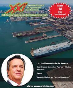 No te pierdas la ponencia de Guillermo Ruiz en la XXI Reunión Nacional de Ingeniería de Vías Terrestres a celebrarse en Puerto Vallarta los días 6-9 de julio de 2016, más información: www.amivtac.org
