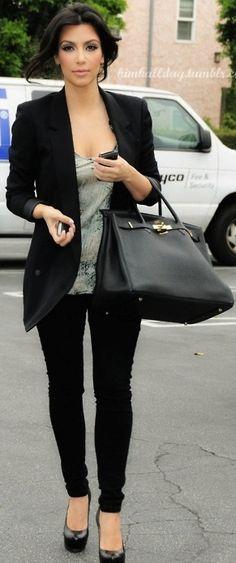 black blazer Kim Kardashian