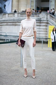 Aymeline Valade outside the Chloe show at Grand Palais on September 29 2016 in Paris France