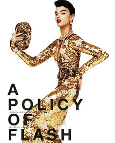 Crystal Renn shot by Giampaolo Sgura for VOGUE Nippon, October 2011 Crystal Renn, Vogue Japan, Fashion Cover, Fashion Shoot, Gold Fashion, Runway Fashion, High Fashion, Pictures Of Crystals, I Love Gold