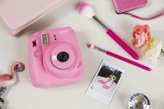 Its the mini 9 in Flamingo Pink Instax Mini 9, Instax Mini Camera, Fujifilm Instax Mini, High School Graduation Gifts, Back In The 90s, Instant Film Camera, Bright Pictures, Square Photos, Tech Gifts