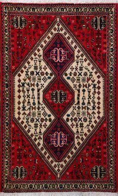 "Abadeh Persian Rug, Buy Handmade Abadeh Persian Rug 2' 7"" x 4' 3"", Authentic Persian Rug"