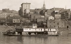 images of mississippi civil war | Detail from 1910 Vicksburg, Mississippi Riverfront Panorama