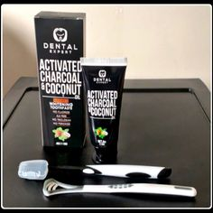 I was very excited to try this Activated Charcoal toothpaste made by Dental Expert that I received free through VIP Power Club. When I opened the package I was surprised to find out that not only did I receive the toothpaste, but they included a special toothbrush for it, as well as a tongue cleaner! I thought that was very considerate, especially since the instructions say that you have to buy a special toothbrush for it yourself. As I read the instructions I grew a little nervous. It… Activated Charcoal Toothpaste, How To Find Out, Give It To Me, Ipsy Glam Bag, Whitening, Vip, Dental, Coconut, Things To Come