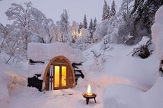 Snow hotel cabin...I hope it has a hot tub!