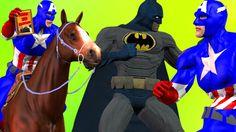 Batman vs Captain America | Finger Family Children Nursery Rhymes | Epic...