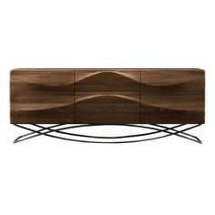 Check out the dynamic in this stunning Sideboard 'Lasta' by Artisan - solid walnut furniture #4livinguk