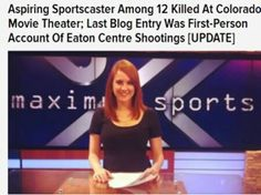 Hours after news broke of a mass shooting at a movie theater in Aurora, CO, the photographs started circulating, including images of a pretty, red-haired woman with a big smile on her face. Jessica Redfield (whose given last name was Ghawi), a young sports broadcaster/blogger from Texas who was an intern at a Denver radio station, was one of the 12 people who were killed in the shooting.   Just a month before that, Redfield had survived a shooting that killed one person and left a handful of…